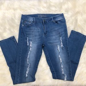 Bamboo Distressed Jeans 13/14
